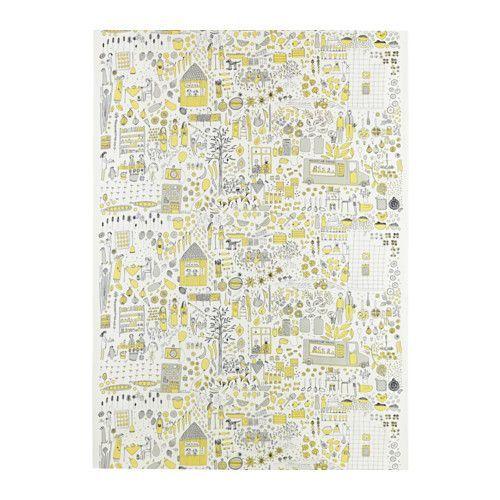 DAGGSKÅL Meterware, weiß/gelb, grau, 6,00€