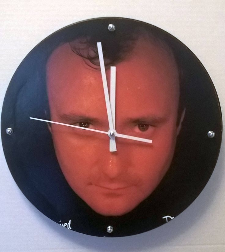 Phil Collins No Jacket Required Album Rock Clock by RockPopAlbumClocks on Etsy