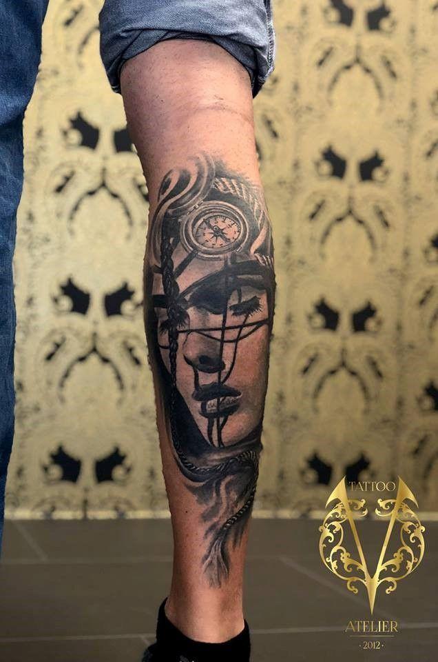 Bein tattoo mann Bein Tattoo