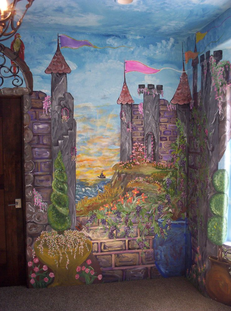 17 best ideas about castle mural on pinterest princess for Castle wall mural