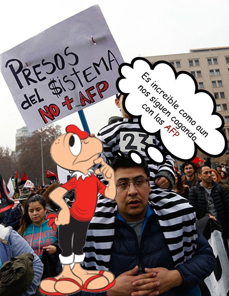 Marchas contra las AFP
