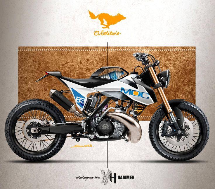 El Solitario MC KTM 250sx Dirt Track by Holographic Hammer