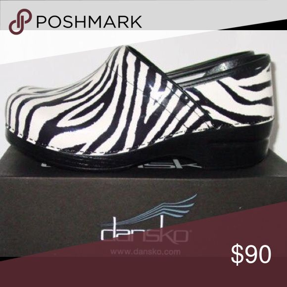 Dansko Zebra Shoes Only worn once. Brand new Dansko Shoes Mules & Clogs