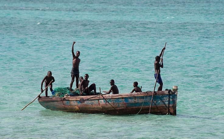 Fishing in Mozambique.  www.sunsafaris.com #fishing #dhow #mozambique #children #sea #destination #travel #conservation #marinesafari