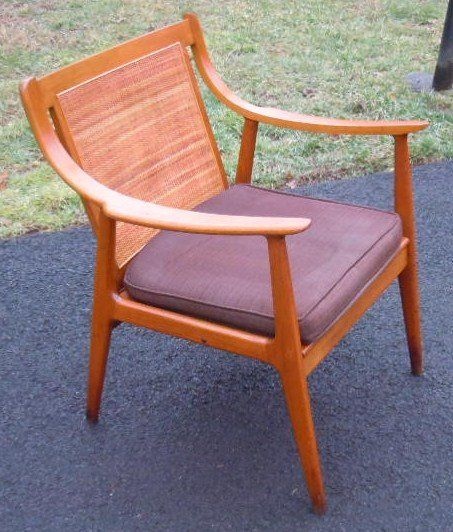 Mid Century Danish Modern Lounge Chair Cane Back Modern