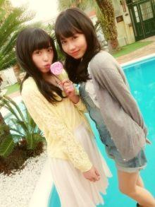 Behind the scenes of Pichilemon July 2014 issue. Haruka Fukuhara and Sumire Nagasaki. #fashion #girl #japan #model ピチレモン7月号とお知らせ【長崎すみれ】|ピチモのHAPPYブログ |Ameba (アメーバ)