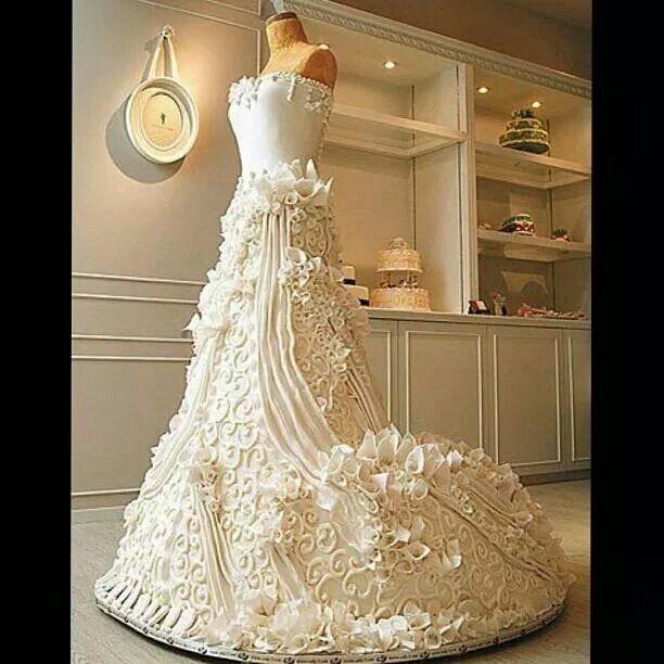 Wedding Gown Cakes: Amazing Life Size Dress Wedding Cake