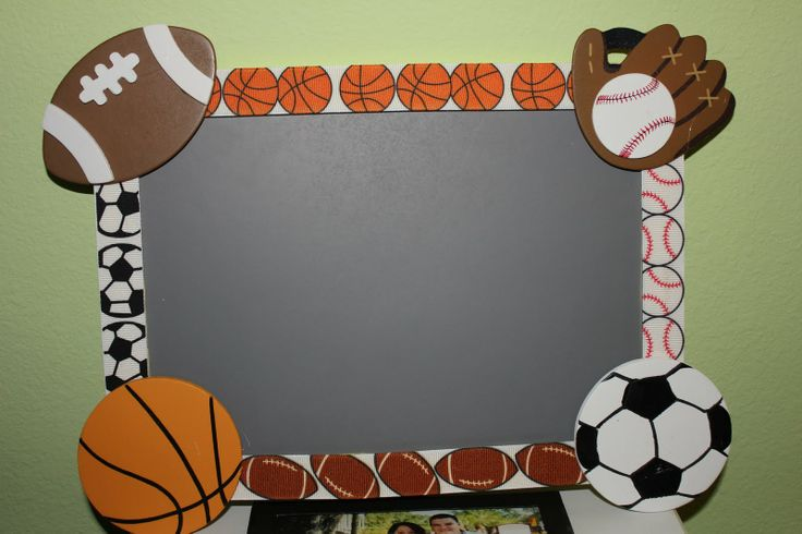 pictures of sports themed classrooms   To finish it off, I used Sharpie Paint Pens to write on the chalk ...