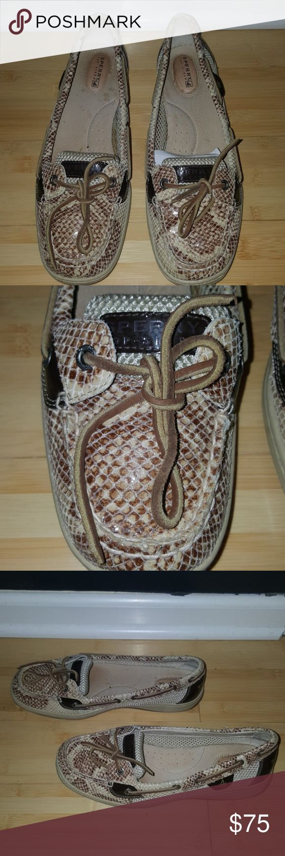 Sperry women's angelfish Brown python shoes Sperrys size 10, only worn one  time. Great condition! Sperry Top-Sider Shoes Flats & Loafers