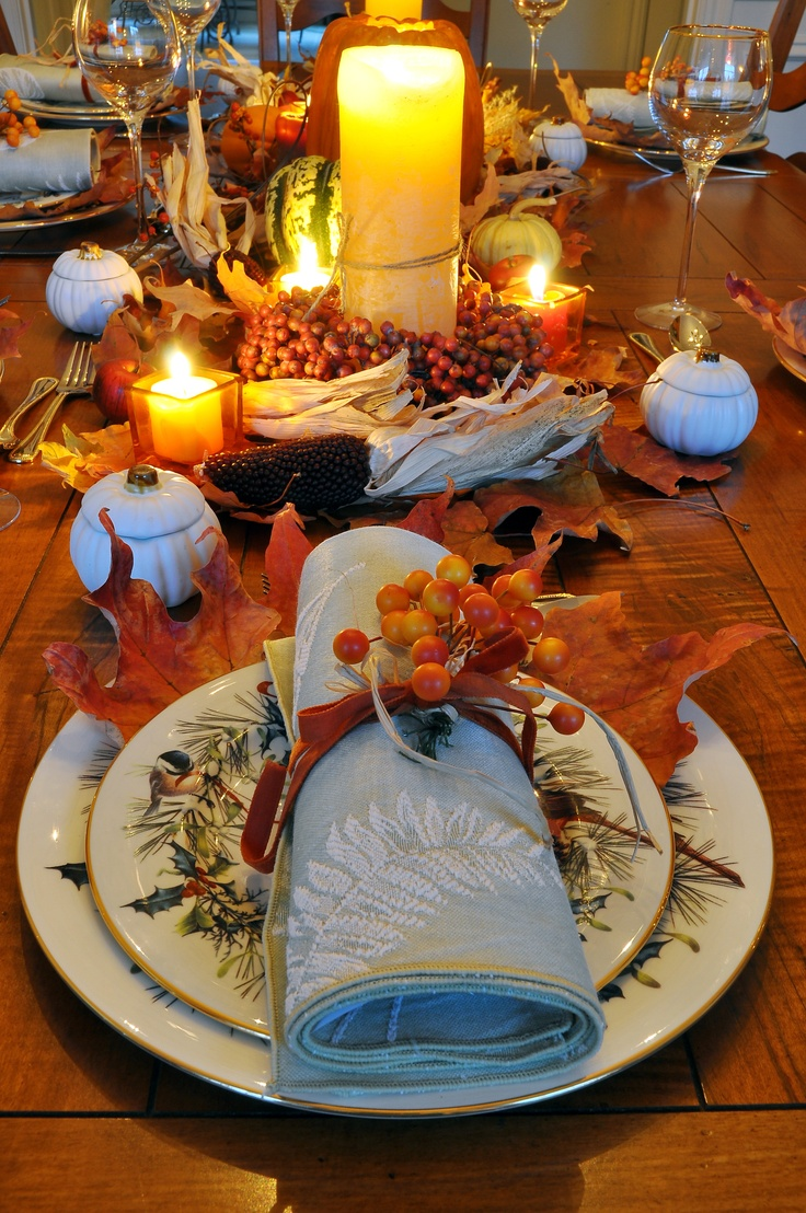 1000 images about home thanksgiving table decorations for Thanksgiving dinner decoration ideas