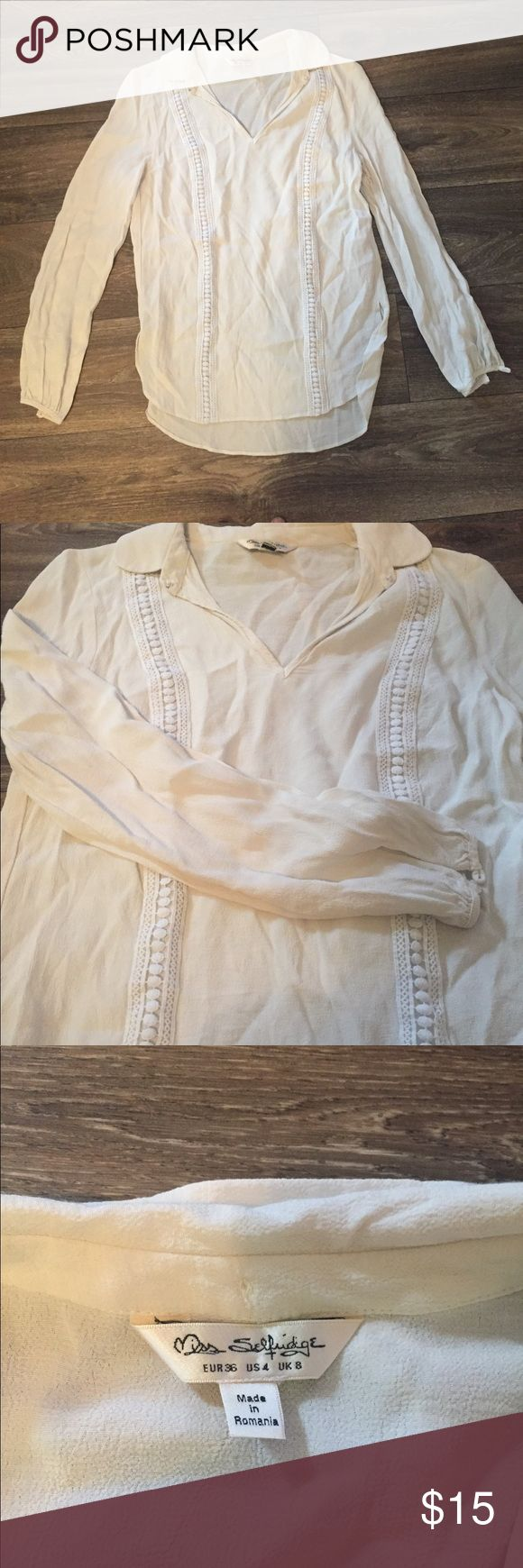 Miss Selfridge Top Lovely Miss Selfridge top! I only wore it a few times. It's perfect for work or a night out! Miss Selfridge Tops Blouses