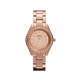 FOSSIL Stella Mini Three Hand Stainless Steel Watch Rose ES3196