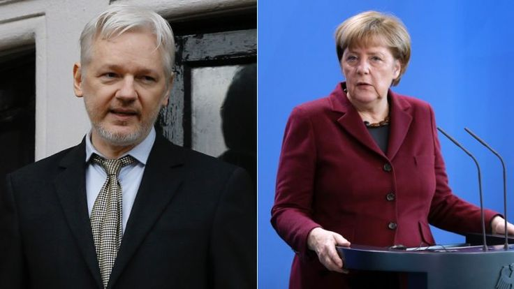 Now that Wikileaks's Julian Assange is done helping Donald Trump get elected, the accused rapist and alleged Russian collaborator is turning his attention towards one of the strongest remaining EU proponents, German chancellor Angela Merkel, with a new pile of leaked documents. How brave.