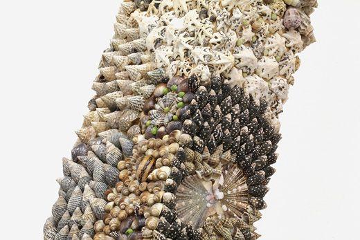 Susan-Collis-Malaprop-Detail, MDF & seashells, 2012.