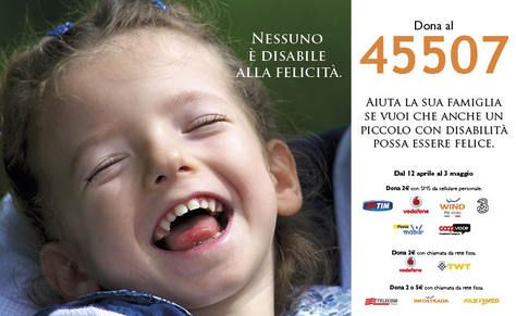 """La campagna SMS 2015 di #FondazioneAriel si è conclusa! Grazie mille per averci accompagnato anche in questa avventura! Sul nostro sito tutte le foto dei """"testimonial"""" per un giorno della nostra campagna. Trovate tutti i loro bellissimi sorrisi su: http://www.fondazioneariel.it/news/grazie-mille-amici/ #campagnaSMS #SMSsolidale #solidarietà #bambini #disabilità"""