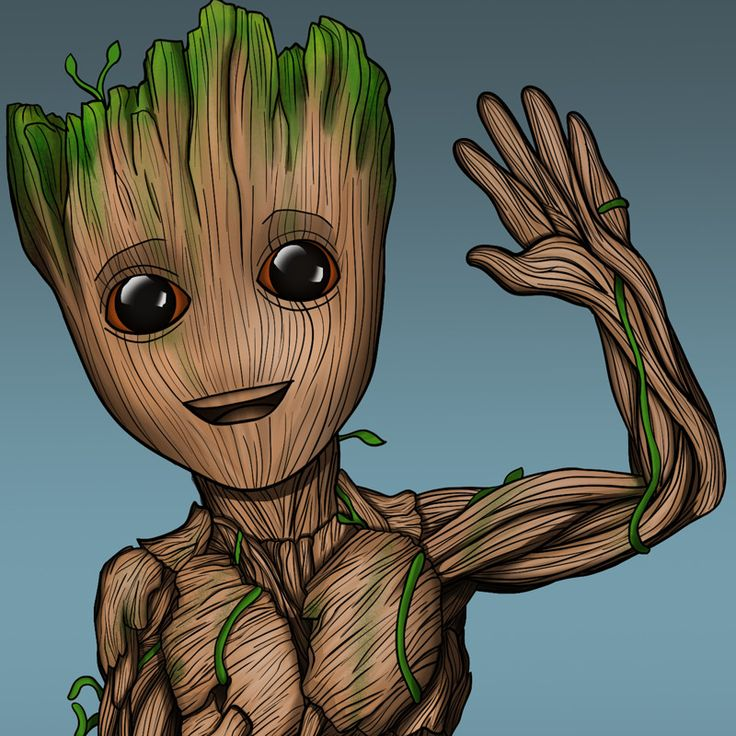drawing groot draw marvel dessin easy characters result visiter step bs guardado desde google