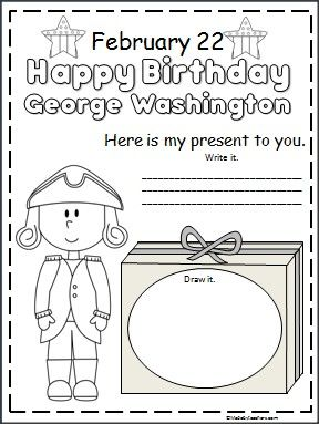Happy Birthday George Washington! This is a Washington's birthday activity available FREE on Madebyteachers.com. Perfect for February and President's Day.