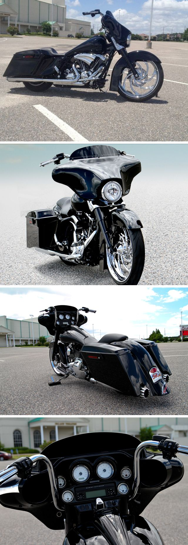 "I'd love to buy this for my hubby! Image Detail for - 2009 Harley Davidson FLHX Street Glide 23"" front wheel CUSTOM! - $ ..."