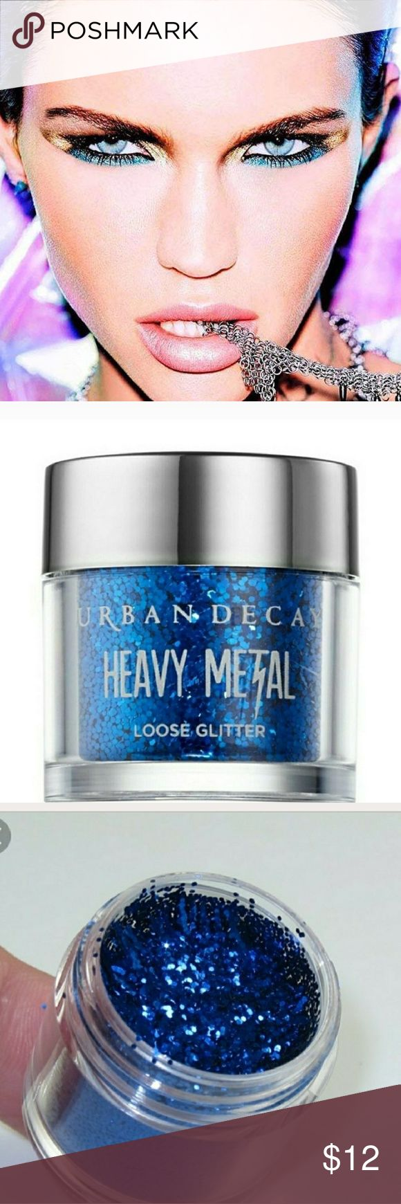 Urban Decay Heavy Metal Glitter Eyeshadow NWT Urban Decay Heavy Metal Loose Glitter Eyeshadow in Reverb, a bright blue loose glitter. NWT. Sealed packaging. Urban Decay Makeup Eyeshadow #urbandecaymakeup #glittereyeshadows