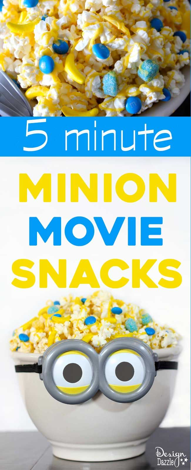 Design Dazzle has yummy 5 minute Minion Movie Snacks for you to enjoy for your #MinionMoveNight!