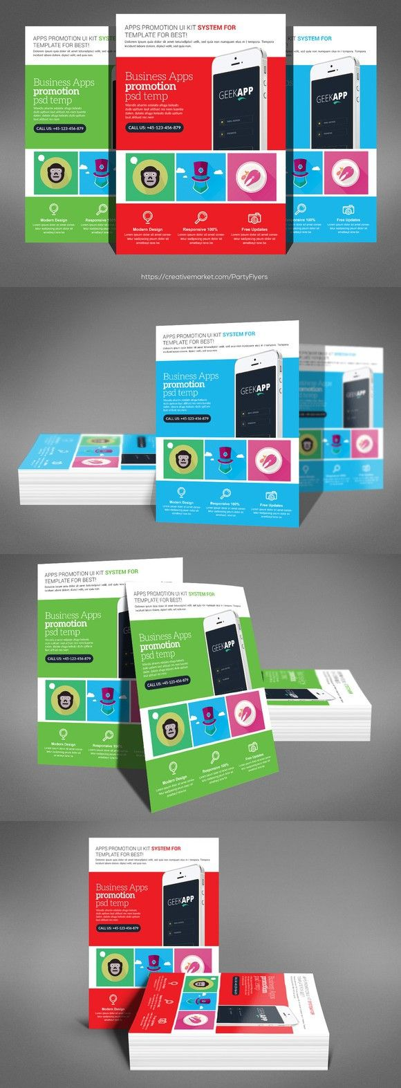Mobile & Computer Repair Flyer . Flyer Templates. $6.00