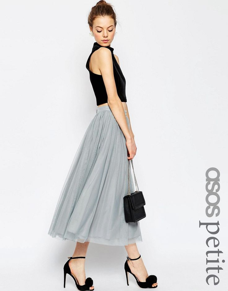 ASOS PETITE WEDDING Tulle Midi Skirt with Layers Compare Price