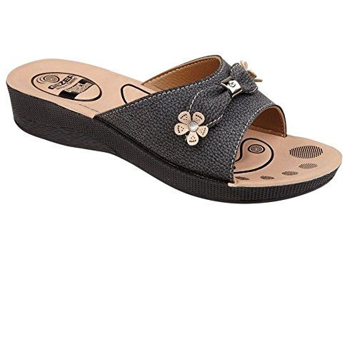 Damen Keil Ferse Strand Sandale Damen lässig Sommer Maultier Sandale Schuhe Größe, [Black], [UK 7 / EU 40] - http://on-line-kaufen.de/private-brand/40-eu-7-uk-damen-keil-ferse-strand-sandale-damen-2