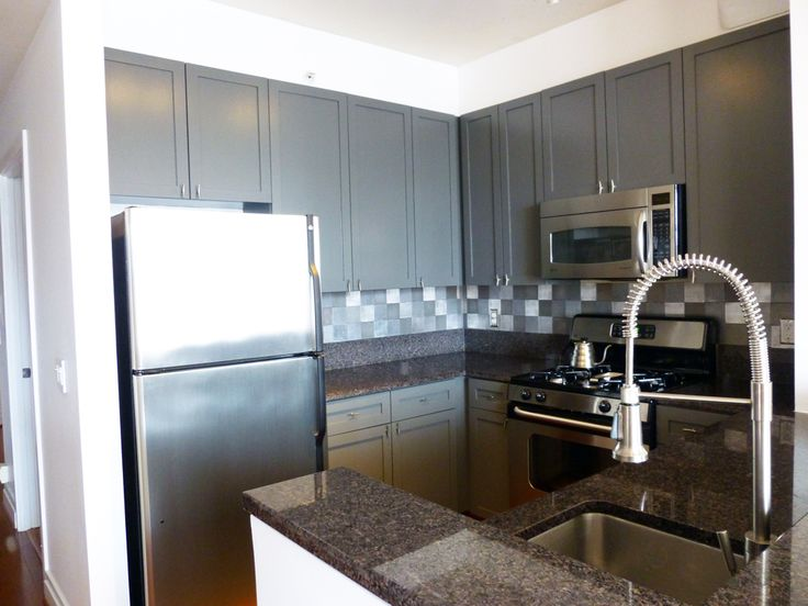 paint your cabinets charcoal grey  For the Home  Pinterest