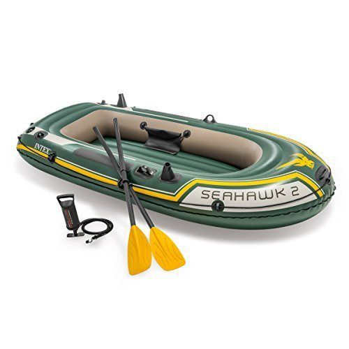 Inflatable Boat Set with Aluminum Oars Output Air Pump 2 Person for Summer Fun #InflatableBoatSet