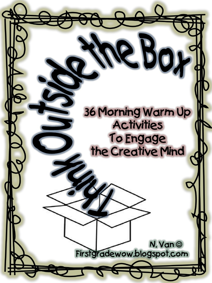 Think Outside the Box Thursday: Boxes Freebies, Teaching Ideas, Boxes Thursday, Mornings Work, Mornings Warm, Activities, Classroom Ideas, First Grade, 1St Grade