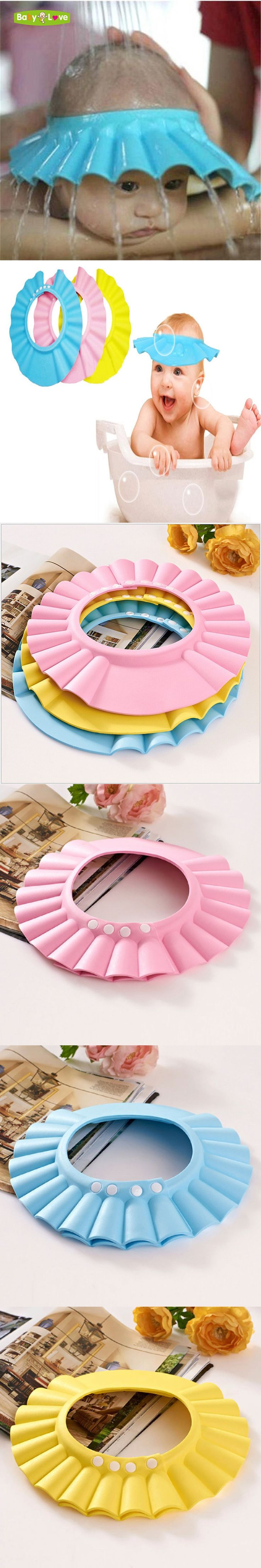 Baby Shampoo Caps Adjustable EVA Soft Waterproof Shower Hat Baby Care Bath Protection Hair Shield For Kids