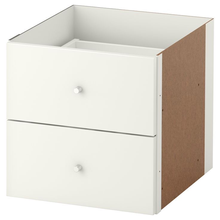 KALLAX Insert with 2 drawers - high gloss white - IKEA