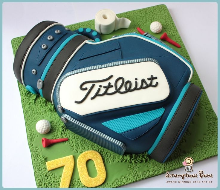 Titleist Golf Bag — Grooms Cake , instead of titleist it would have to be Taylor-Made
