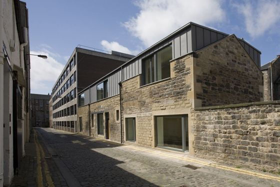 Young Street Lane Offices by Malcolm Fraser Architects is located in a mews street in Edinburgh's original New Town; photo: David Cemry