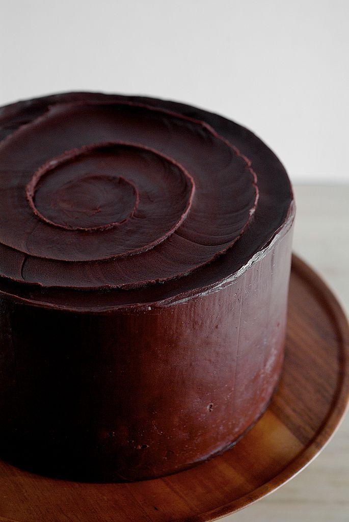 Best Birthday Cake best sour cream chocolate frosting