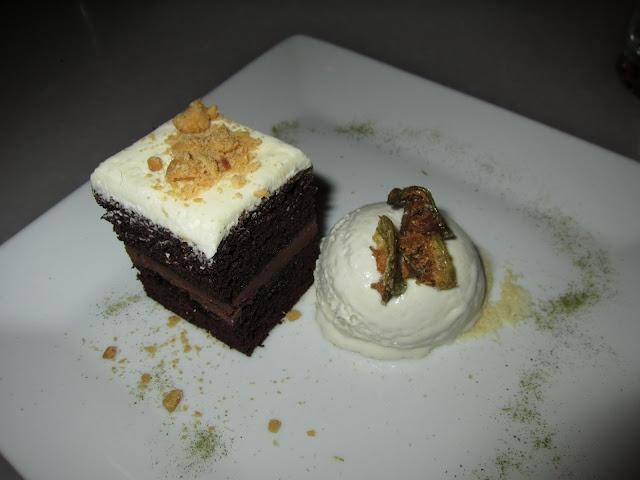 Thai Eggplant Green Curry Chocolate Cake with Coconut-Thai Basil Ice ...