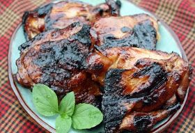 Mommy's Kitchen - Old Fashioned & Country Style Cooking: Honey Soy Grilled Chicken Thighs ~ Potluck Sunday