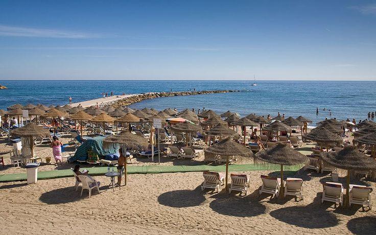 The beach in Marbella