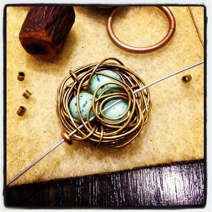 Wire Birds' Nests with Rebecca of Songbead Bead art