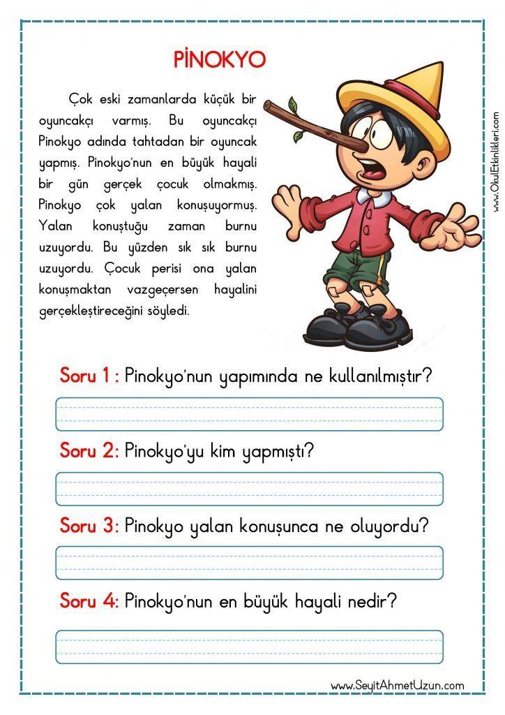 OKUMA ANLAMA METNİ – PİNOKYO Okuma anlama metinleri Özgün bir çalışma olarak pdf formatında hazırlanmıştır. Sitede bulunan çalışmaları özgün içerik olarak hazırlıyoruz. Bu yüzden Sitemizde..
