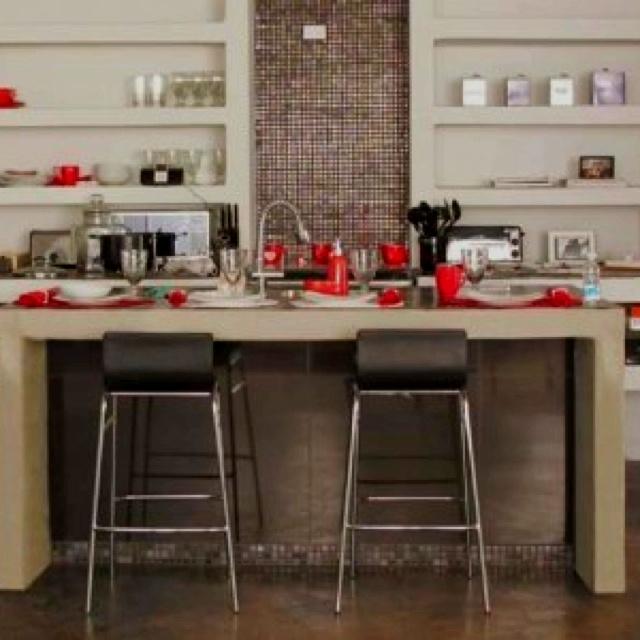 Cocina hecha de concreto imagenes home decor decor y for Barras de cocina de concreto