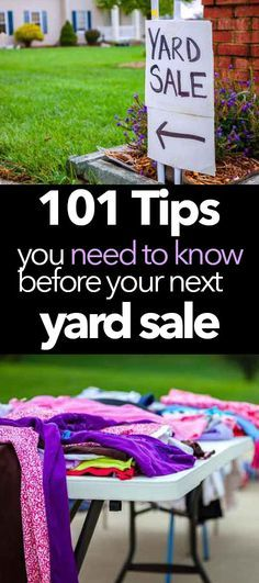 Awesome tips for how to throw a killer yard sale! Love that the tips are broken down by category! Pinning this for my next yard sale!