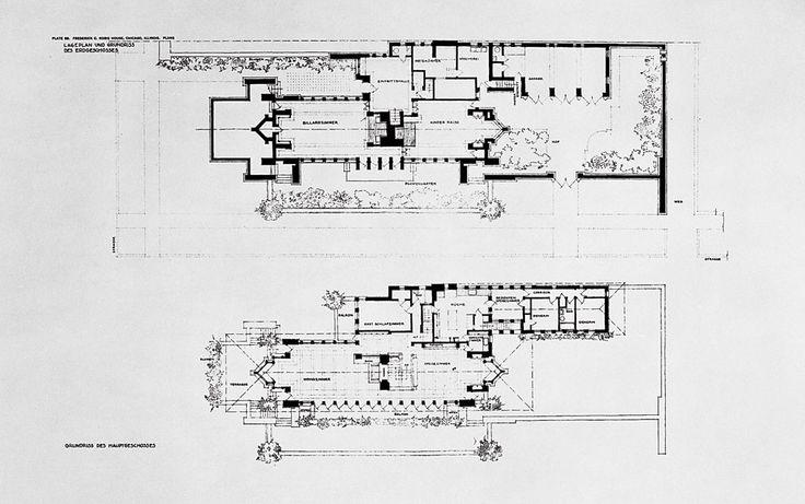 1909 frank lloyd wright robie house maison de prairie - Frank lloyd wright maison ...