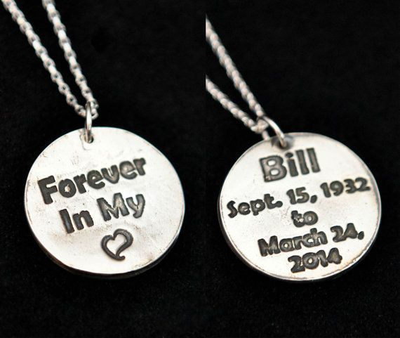Silver Forever In My Heart Pendant Memorial Necklace - Get 10% OFF with coupon code PINIT when purchasing on Etsy