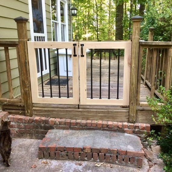 Xl Double Baby Gate And Dog Gate For Decks Patios Gardens Etsy Patio Gates Pergola Patio Patio