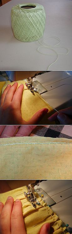 Как легко присобрать ткань