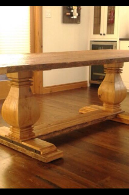 My custom designed and built trestle table