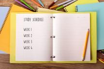 Notebook with study schedule - david franklin/E+/Getty Images