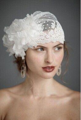 Vit handgjorda huvudbonad blomma brud bröllop pärla smycken spets cap-huvudet blomma huvudbonad nytt