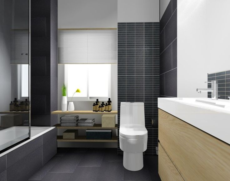 Salle de bain carrelage Leroy Merlin, image virtuelle 3d